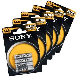 48-Ministilo-Sony-48-Batterie-Pile-AAA-R03-Ultra-12-Confezioni-Mini-Stilo-1-5-V