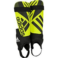 Adidas Ghost Club 2015 - 2016 Nocsae Shin Guard Strap Shield Black - Yellow