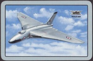Playing-Cards-Single-Card-Old-RAF-AVRO-VULCAN-Flying-BOMBER-PLANE-Art-Painting-B