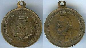 Diplomatique Médaille Souvenir - Cahors 1881 Souvenir Du Concours Régional Agricole Gambetta Vous Garder En Forme Tout Le Temps