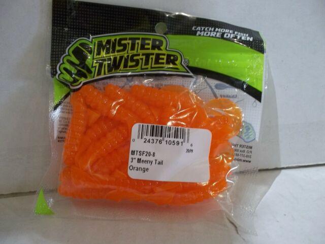 Mister Twister 3-Inch Meenie Lure-Pack of 20 Black