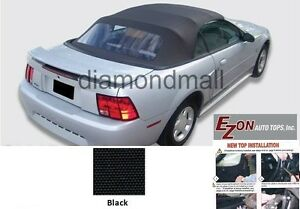 bb27ea94aa52 E-Z ON Ford mustang Convertible Soft Top   Plastic window Black ...