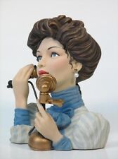 "Cameo Girls Head Vase Abigail 1903 ""Party Line""  MIB FREE SHIPPING"