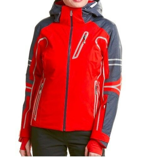 Spyder Vintage Rad Pad 3M 600 rot USA Ski Snowboarding Mountain Jacket 10 daSie