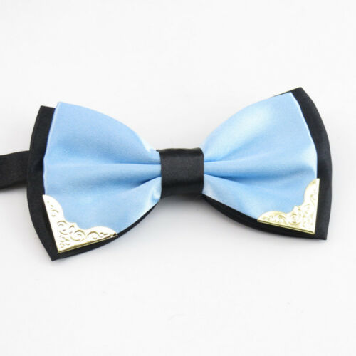 Fashion Metal Bow Ties for Men Women Wedding Party Butterfly Bowtie Tie Cravat