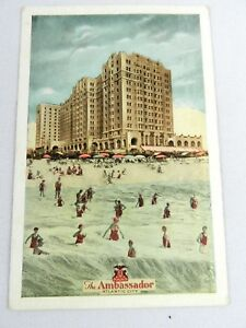 Vintage-The-Ambassador-Atlantic-City-Postcard-Lumitone-Photoprint-New-York-USA