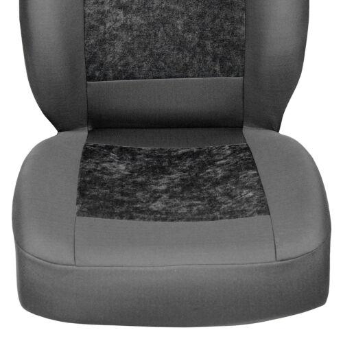 Grauer Velours Sitzbezüge für CITROEN XANTIA Autositzbezug VORNE