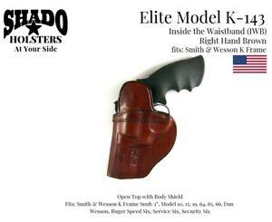 SHADO-Leather-Holster-USA-Elite-Model-K-143-Right-Hand-Brown-IWB-S-amp-W-K-Frame