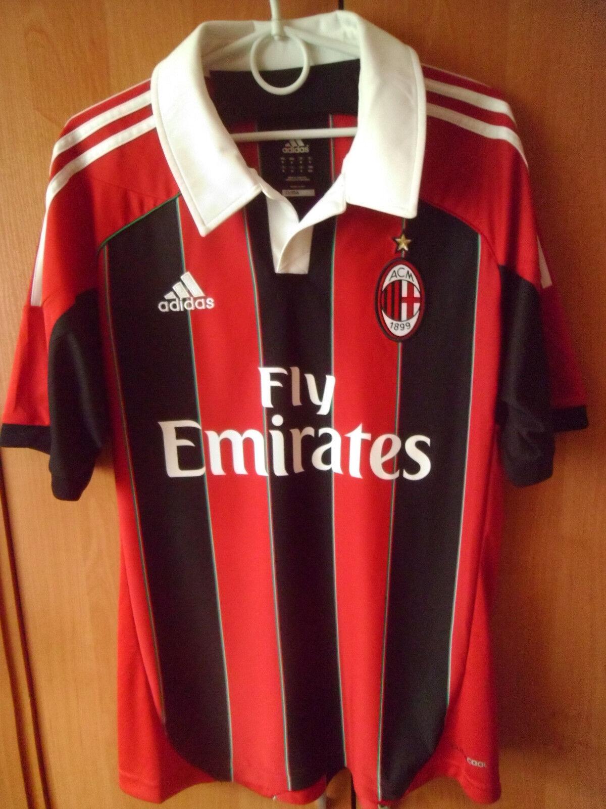 EXCELLENT    2012-13 AC Milan Home Shirt Jersey Trikot M