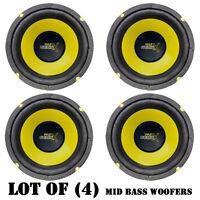 Lot Of (4) Pyle Plg64 6.5 300 Watt, 4 Ohm, Mid Bass Woofers, Car Audio System