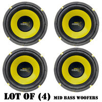 Lot Of (4) Pyle Plg64 6.5 300 Watt, 4 Ohm, Mid Bass Woofers, Car Audio System on sale