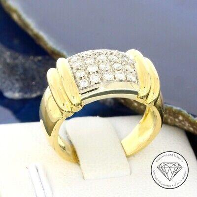 Clever Wert 2.450,- Stilvoller Ring Mit 0,40 Ct Brillanten In 750 / 18 Karat Gold Mit Traditionellen Methoden