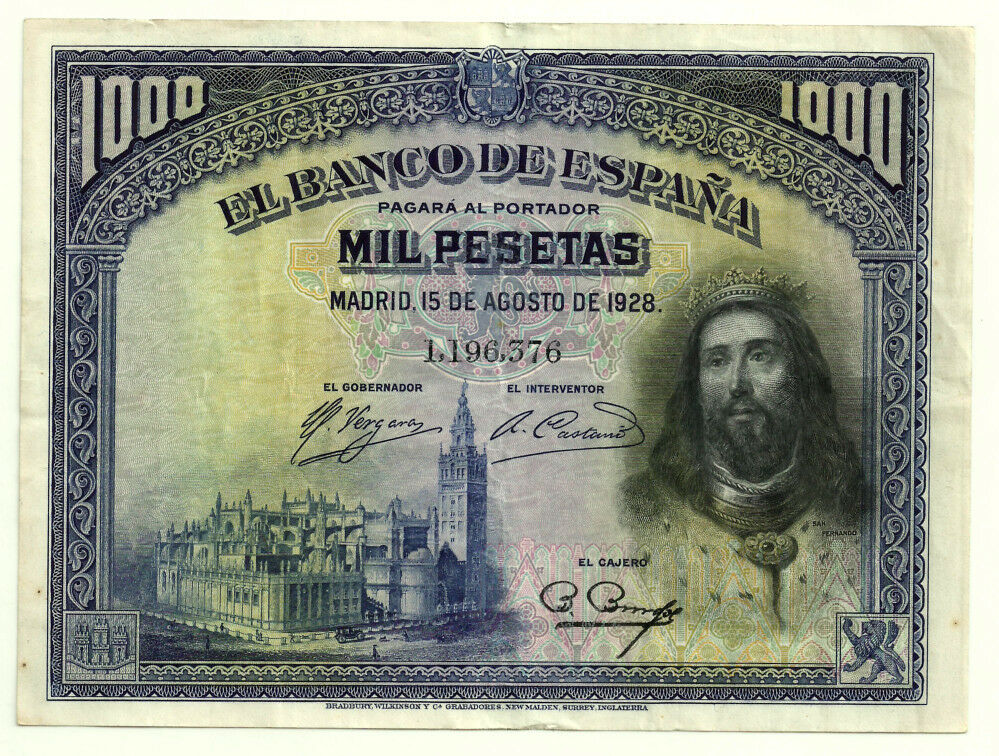 1000 pesetas 1928, Cristo S-l1600