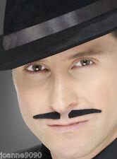 Gangster Spiv Tash Fancy Dress Accessory Moustache Movember Freddie Mercury