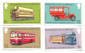 Transports-transports Publics Autobus-tramways Etc Neuf Sans Charnière Set Guernesey-ic Transport Buses -trams Etc Mnh Set Guernseyafficher Le Titre D'origine