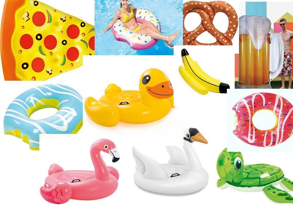 Luftmatratze Pool Lounge Flamingo Pizza Donut Ente Schwan Brezel Pfau Einhorn  | Einfach zu spielen, freies Leben