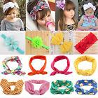 Baby Kids Girl Bunny Rabbit Hairband Turban Bow Knot Headband Headwear Hair Warp