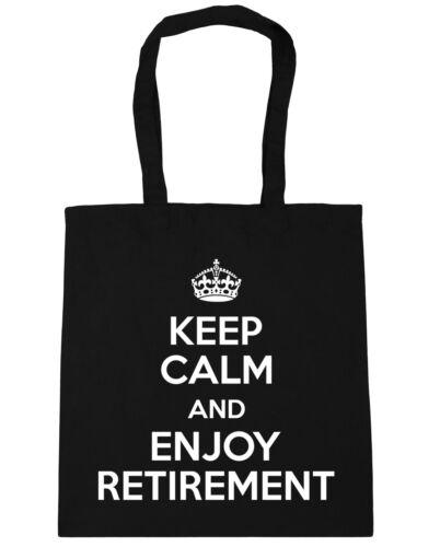 10 litres Keep Calm and Enjoy Retirement Tote Shopping Gym Beach Bag 42cm x38cm