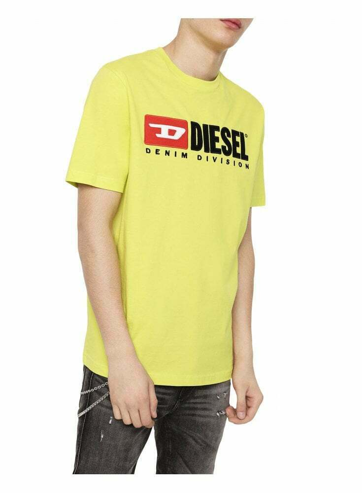 Diesel T-Just-Division T-Shirt - Gelb Flou