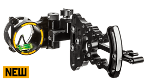 New-2019-Trophy-Ridge-Alpha-Slide-1-Single-One-Pin-RH-Black-Bow-Sight-AS415R