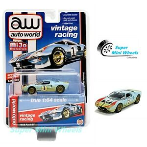 1965 Ford GT 40 Racing #2 Black DIRTY Version *RR* Auto World MiJo 1:64 RAR