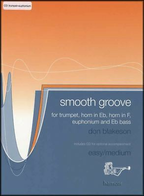 Attent Smooth Groove For Trumpet/euphonium Sheet Music Book & Play-along Cd Bekwame Productie