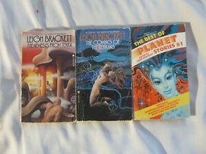 THREE-3-LEIGH-BRACKETT-paperbacks-2-authored-1-edited