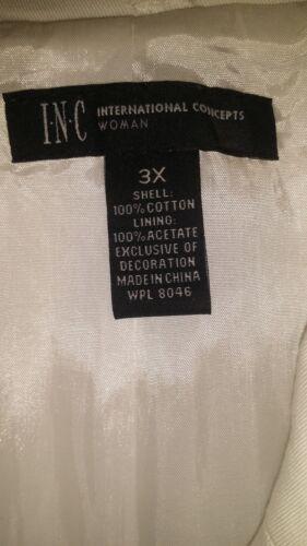 veste 159 brodé avec 00 Was blanche belle pour femme Nwt 3x motif x4nq7wanX