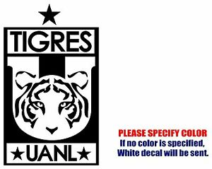 TIGRES UANL Mexico Soccer Football JDM Vinyl Decal Sticker Car - Soccer custom vinyl decals for car windows