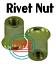 10 M8-1.25mm //8mm Metric Flat Head Blind Insert Rivet Nut