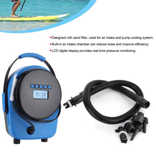 Elektro Hochdruck SUP Pumpe Luftpumpe 20PSI Schlauchboot Aufblasbarer Kajak LCD