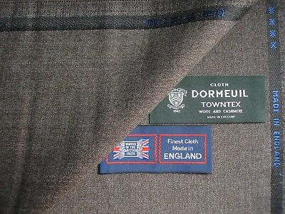 DK NAVY 3.5M DORMEUIL /'CASHMERE TOWNTEX/' 95/% WOOL 5/% CASHMERE SUITING FABRIC
