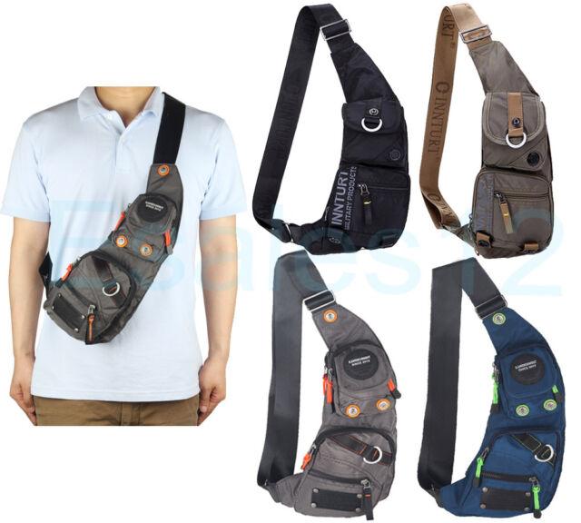 innturt nylon sling chest bag daypack bicycle travel gym backpack