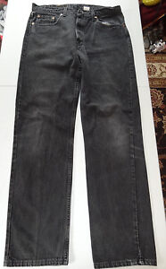 Details about Vintage Levi's 505 Regular Fit Straight Leg Jeans Black 38x34 MADE IN USA!