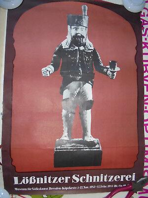 Effizient 29885 Plakat Ddr A2 Ausstellung Lössnitzer Schnitzerei Dresden 1983 Poster Professionelles Design