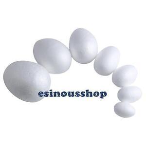 40mm to 120mm Polystyrene Eggs Kids Crafts Easter Modelling