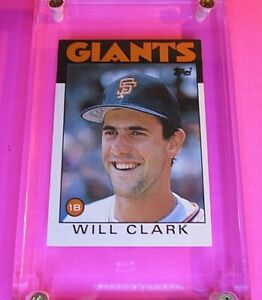 1986-Topps-Traded-24T-Will-Clark-Rookie-RC-MINT-from-new-Set-Giants