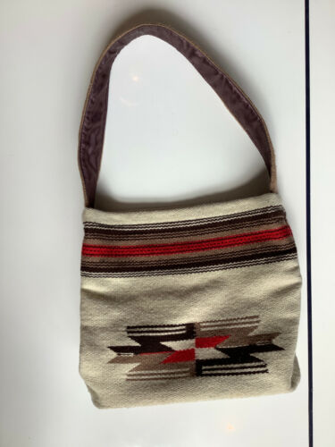 Vintage Ortega's Woven Wool Chimayo Handbag Purse