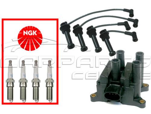 Para Ford Focus MK1 1.4 1.6 00-04 Paquete De Bobina De Encendido lleva NGK Spark Plugs