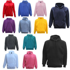 Adult-Unisex-Men-039-s-Plain-Basic-Pullover-Hoodie-Sweater-Sweatshirt-Jumper-XS-5XL