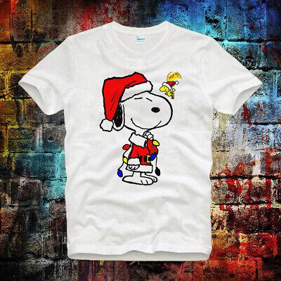 Snoopy Christmas Santa Xmas Men Women Unisex T-shirt Vest Top V73