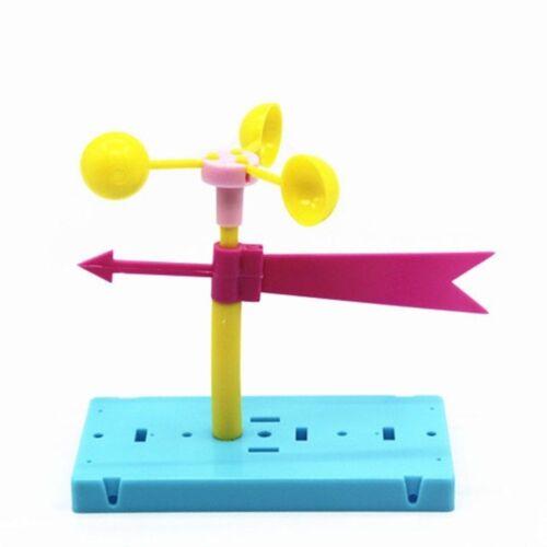 School Educational Kit Fun Physics Experiment Homemade Wind Vane DIY Material