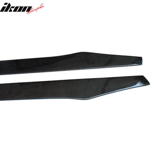 Carbon Fiber CF Fits 08-12 VW Volkswagen CC 77.5Inch Side Skirt Extension Pair