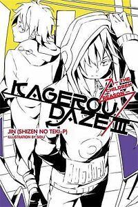 Details about KAGEROU DAZE Vol 3 THE CHILDREN REASON Jin NEW Novel FORMAT  Not a Comic KANGAROO