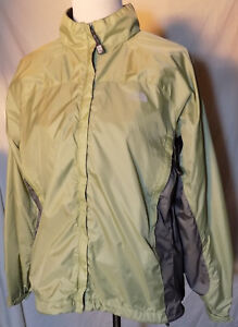 North Face Grande Shell Mujer Completo The Cremallera gris Verde Cortavientos wqT07RY