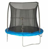 Jumpking 8 Foot Outdoor Trampoline And Safety Net Enclosure Combo, Blue   Jk8vc1 on sale