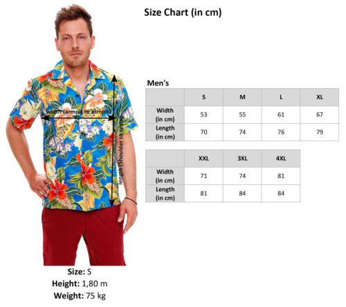 PLA ORIGINALE Hawaii Camicia per uomo Puzzle tradizionalmente BLU