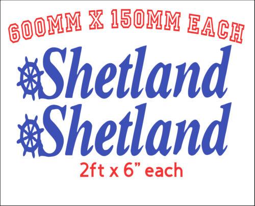 research.unir.net SHETLAND BOATS fishing boat Hull Stickers x2 2 ...