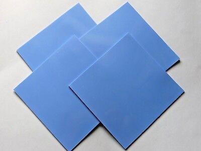 Blue100mmx100mmx1mm GPU CPU Heatsink Cool Thermal Conductive Silicone Pad 4 Pcs