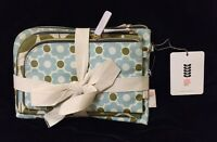 Orla Kiely Flower Cosmetic Bag Make Up White Green Blue Set Of Three